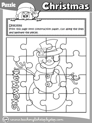 CHRISTMAS PUZZLE ( B & W VERSION)