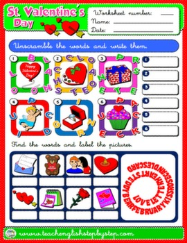 VALENTINE'S DAY WORKSHEET 6#