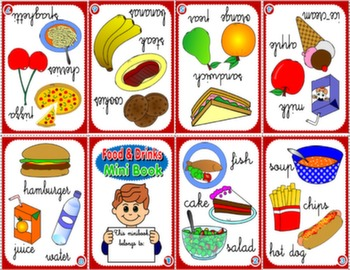 FOOD & DRINKS MINI BOOK (VERSION FOR BOYS)