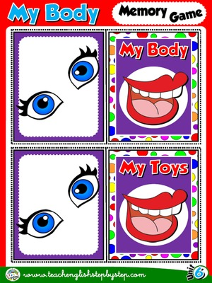 My Body - Memory Game Cards (Picture - Picture)