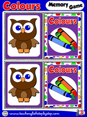 Colours - Memory Game Cards
