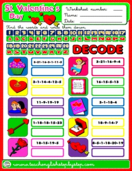 VALENTINE'S DAY WORKSHEET 10#