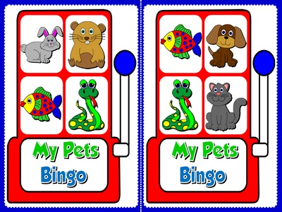 My Pets - Bingo (Set of 20 cards)