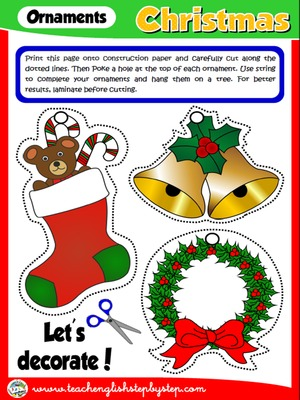 CHRISTMAS ORNAMENTS - CRAFTS ACTIVITY