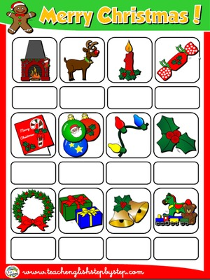 CHRISTMAS PICTURE DICTIONARY (PAGE2)