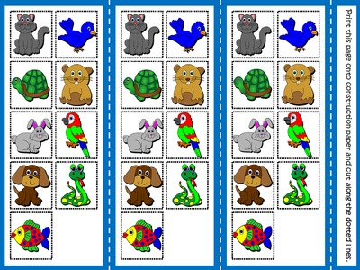 My Pets - Board Game (Picture Cards)