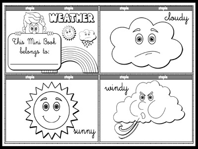 The Weather - Colouring Mini Book