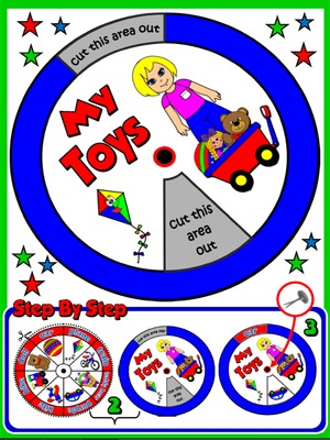 My Toys - Vocabulary Wheel - page 2