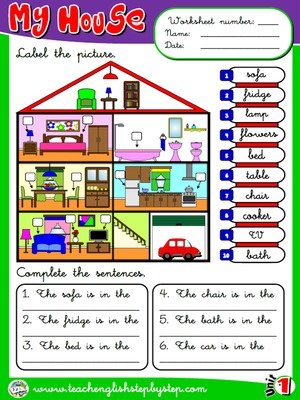 My house - Worksheet 6
