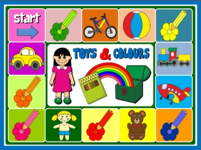 #TOYS AND COLOURS - BOARD GAME