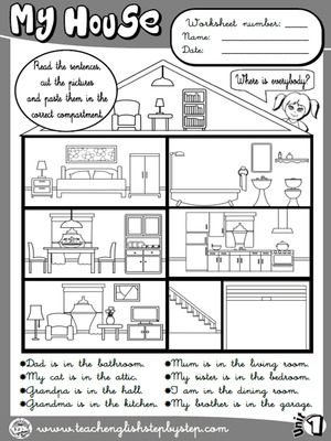 My house - Worksheet 4 (B&W version)