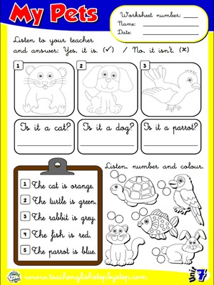 My Pets - Worksheet 5