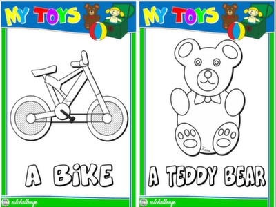 TOYS - FLASHCARDS (B&W)