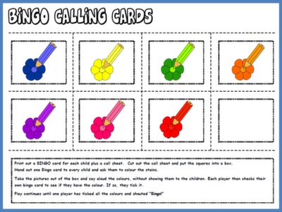 #COLOURS BINGO - CALLING CARDS