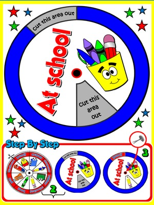 At School - Vocabulary Wheel - page 2