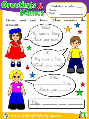 Greetings and Names - Worksheet 6