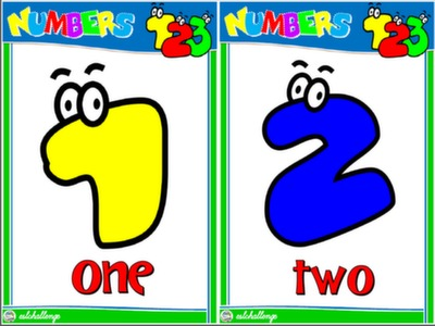 NUMBERS - FLASHCARDS #