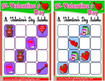VALENTINE'S DAY SUDOKU CARDS 3 & 4#