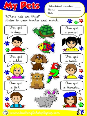 My Pets - Worksheet 4
