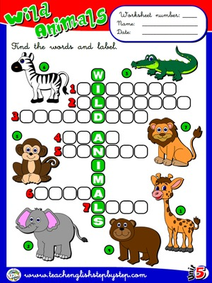 Wild Animals - Worksheet 1