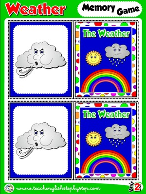 The Weather - Memory Game Cards (Picture - Picture)