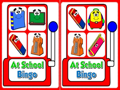 At School - Bingo (Set of 20 cards)
