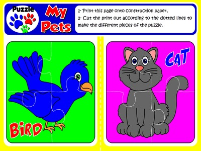 My Pets - Puzzles (Set of 9 puzzles)