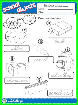 CLASSROOM OBJECTS - WORKSHEET 2 #