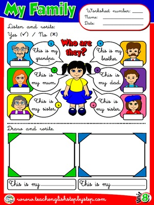 My Family - Worksheet 3