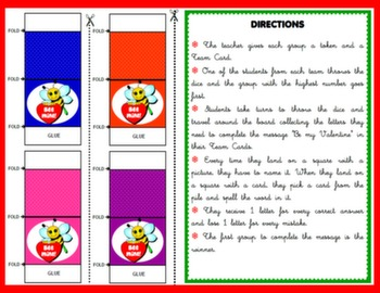 VALENTINE'S DAY - BOARD GAME (TOKENS + DIRECTIONS)#