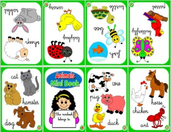 FARM ANIMALS & PETS MINI BOOK (VERSION FOR GIRLS)