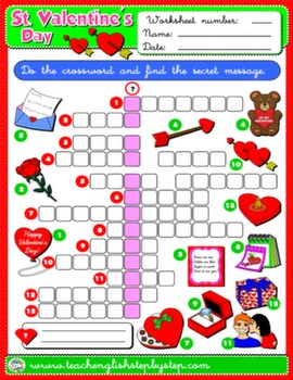VALENTINE'S DAY WORKSHEET 9#