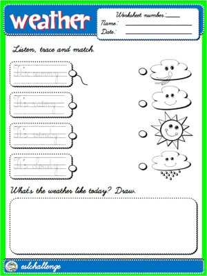 #THE WEATHER - WORKSHEET 1 (B&W)