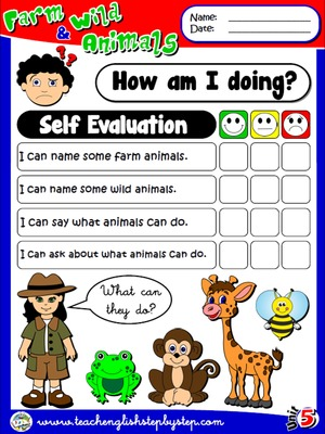 Farm and Wild Animals - Self Evaluation