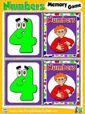 Numbers - Memory Game Cards (Picture - Picture)