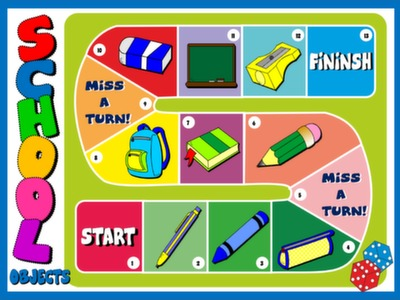 CLASSROOM OBJECTS - BOARD GAME#
