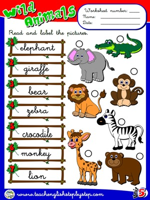 Wild Animals - Worksheet 2