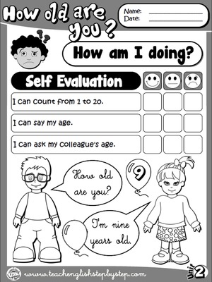 Numbers & Age - Self Evaluation (B&W version)