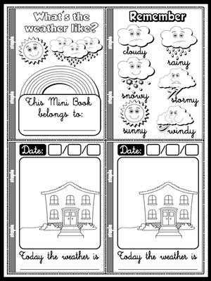 The Weather - Weather Report Mini Book