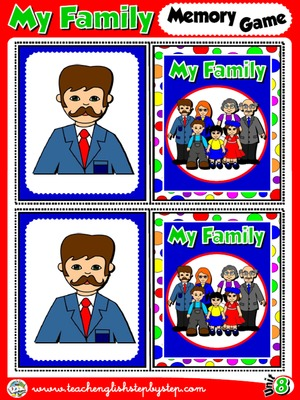 My Family - Memory Game Cards (Picture - Picture)