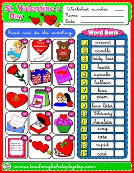 VALENTINE'S DAY WORKSHEET 2#