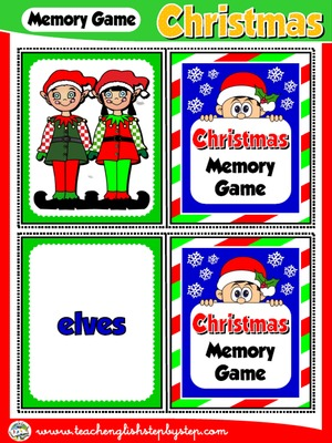 CHRISTMAS MEMORY GAME ( PICTURE/WORD)