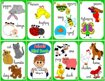 FARM ANIMALS & PETS MINI BOOK (VERSION FOR BOYS)