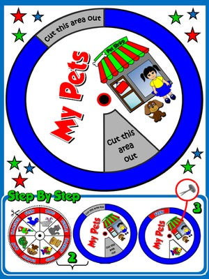 My Pets - Vocabulary Wheel - page 2