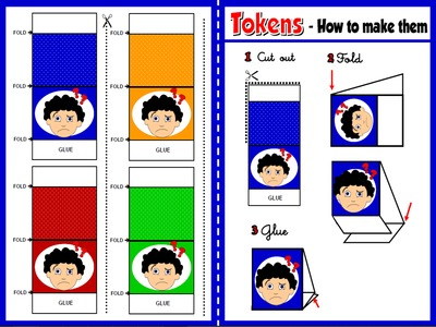 Classroom Language - Board Game Tokens