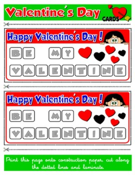 VALENTINE'S DAY - BOARD GAME TEAM CARDS#