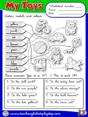 My Toys - Worksheet 7