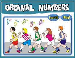 ORDINALS PPT GAME + PRESENTATION