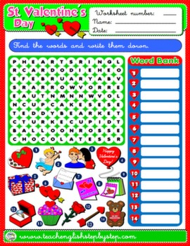 VALENTINE'S DAY WORKSHEET 7#