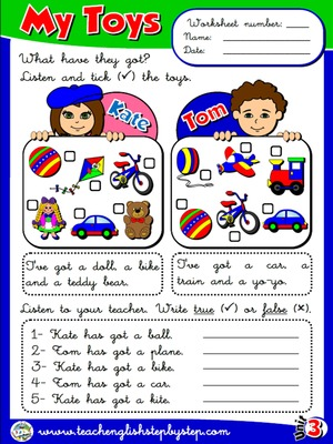 My Toys - Worksheet 2